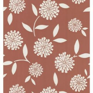 Brewster 56 sq. ft. Zinnia Floral Wallpaper 149 62121