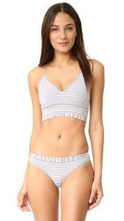 Calvin Klein Underwear Seamless Logo Stripe Bralette