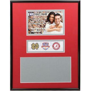 Alabama Crimson Tide vs. Notre Dame 2013 BCS Championship Game 11 x 14 Ticket Frame   Crimson/Gray