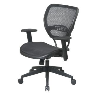 Office Star SPACE Mid Back Task Chair with Adjustable Arms