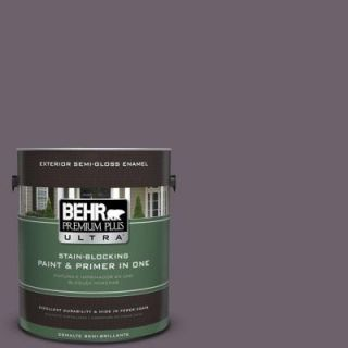 BEHR Premium Plus Ultra 1 gal. #670F 6 Vintage Grape Semi Gloss Enamel Exterior Paint 585301