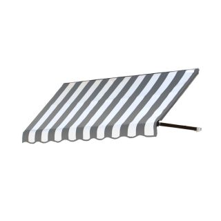 Awntech 64.5 in Wide x 36 in Projection Gray/White Stripe Open Slope Window/Door Awning