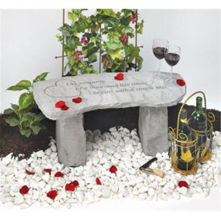 Kay Berry  Inc. 36520 The Romance Of A Thousand Life Times   Memorial Bench   29 Inches x 12 Inches x 14.5 Inches