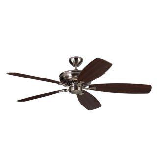 Monte Carlo Fan Company Bonneville Max 60 in Brushed Steel Downrod Mount Indoor Ceiling Fan (5 Blade) ENERGY STAR