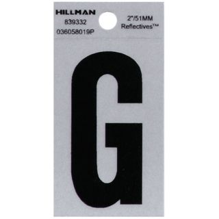 The Hillman Group 2 in Black and Silver Reflective House Letter G