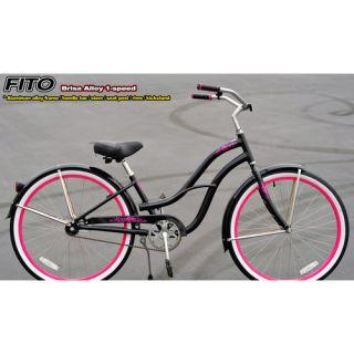 Fito Womens Brisa Alloy 1 Speed Beach Cruiser Bike