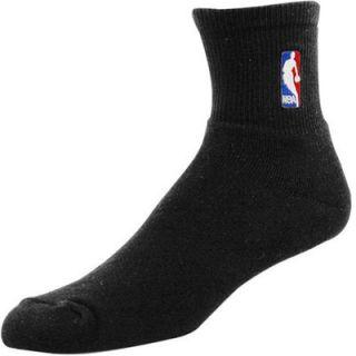 Black NBA Logoman 10 13 Quarter Socks