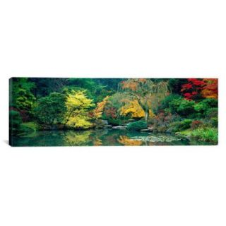 iCanvas Panoramic The Japanese Garden Seattle Washington Photographic Print on Canvas