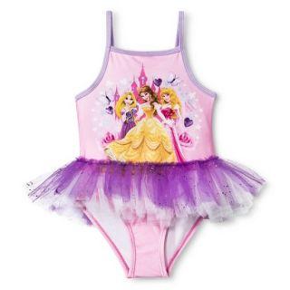 Disney® Princess Trio Toddler Girls One Piece Swimsuit