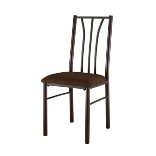International Caravan Santa Fe Iron Dining Chairs with Micro Suede