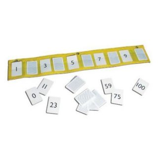 Didax Wall Pocket Number Line, Cards 0 to 100 (Set of 100)