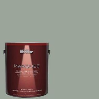 BEHR MARQUEE 1 gal. #MQ6 17 Green Trellis One Coat Hide Matte Interior Paint 145401