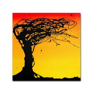 Trademark Fine Art Windblown Tree by Roderick Stevens Graphic Art on