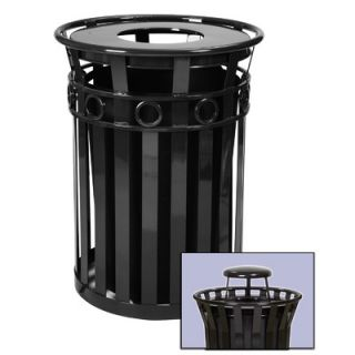 Witt Oakley Collection 36 Gallon Trash Receptacle with Rain Cap