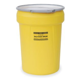 EAGLE Salvage Drum,Open Head,30 gal.,Yellow   4RF59|1602   Grainger