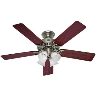 Hunter 52 in Studio Brushed Nickel Ceiling Fan with Light Kit