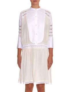 Salome broderie anglaise silk dress  Queene and Belle US