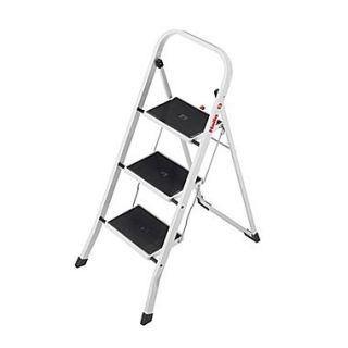 Hailo USA Inc. K20 3 Step Steel Step Stool with 330 lb. Load Capacity