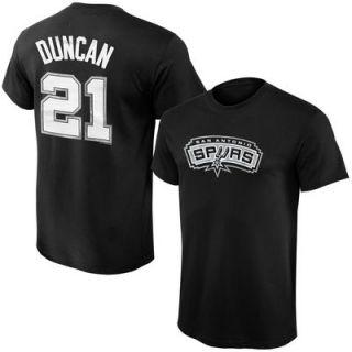 Tim Duncan San Antonio Spurs Majestic Preschool Name & Number T Shirt – Black