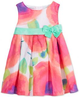 First Impressions Baby Girls Tie Dye Flower Print Dress, Only at
