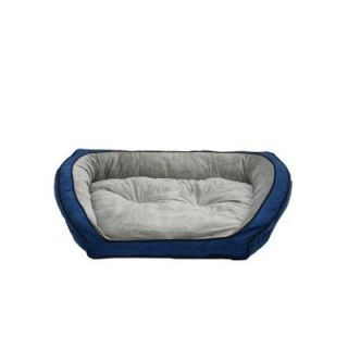 K&H Pet Products Bolster Couch Large Blue/Gray Pet Bed 7322
