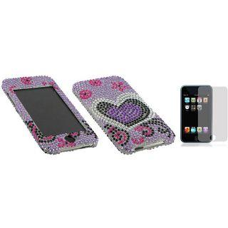 Apple iPod Touch 2nd/3rd Gen Purple Love Rhinestone Case
