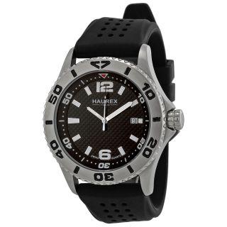 Haurex Italy Factor Steel Rotating Bezel Luminous Date Mens Watch