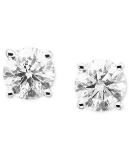 Diamond Stud Earrings in 14k White Gold (1/2 ct. t.w.)   Earrings