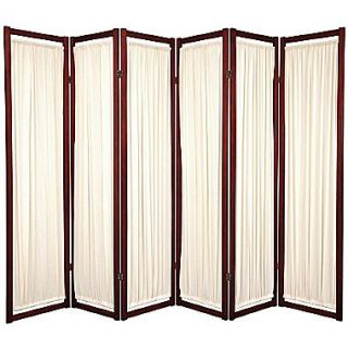 Oriental Furniture 72 x 84 Helsinki Shoji 6 Panel Room Divider; Rosewood