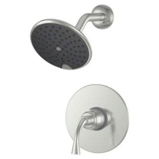Ultra Faucets Twist Single Handle Single Spray Shower Faucet in Brushed Nickel 15700909