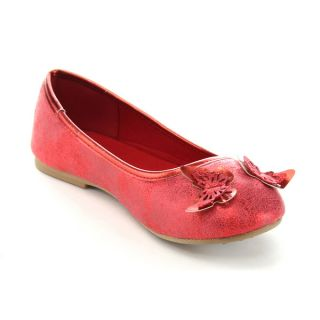 Jelly Beans Double Kids Big Girl Butterfly Deco Ballet Flats