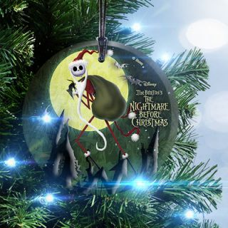Nightmare Before Christmas Santa Jack Hanging Glass Ornament by Trend