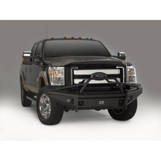 Fab Fours   Pre Runner Front Ranch Bumper with Tow Hooks in Bare Steel   Fits 2009 to 2012 Ford F150