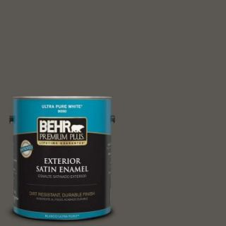 BEHR Premium Plus 1 gal. #BXC 17 Dominant Gray Satin Enamel Exterior Paint 934001