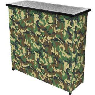 Trademark 2 Shelf 39 in. L x 36 in. H Hunt Camo Portable Bar with Case HUNT8000 CAMO