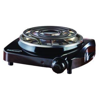 Brentwood TS 306 Black 1200 watt Electric Single Burner   18440303