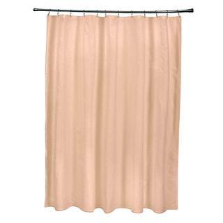 71 x 74 inch Peach Solid Shower Curtain   16679096