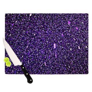 KESS InHouse Purple Dots Cutting Board