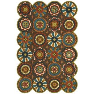 LR Resources Dazzle Brown 5 ft. x 7 ft. 9 in. Plush Indoor Area Rug LR54013 BW58