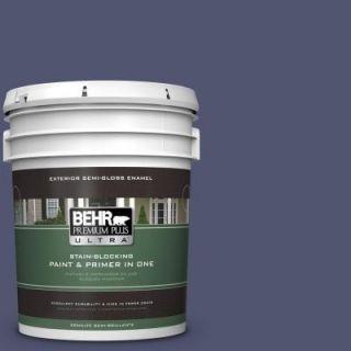 BEHR Premium Plus Ultra 5 gal. #S540 7 Bossa Nova Semi Gloss Enamel Exterior Paint 585305
