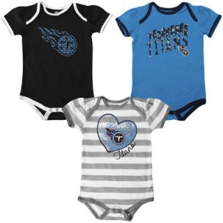 Tennessee Titans Infant Girls Field Goal Creeper Set   Gray