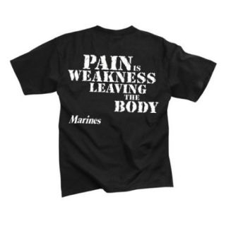 """Marines """"Pain is Weakness"""" T Shirt"""