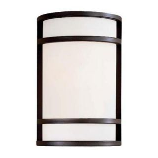the great outdoors by Minka Lavery Bay View 2 Light Oil Rubbed Bronze Outdoor Wall Mount Lantern 9802 143