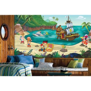 Jake and the Never Land Pirates XL Chair Rail Prepasted Mural 6 x 10
