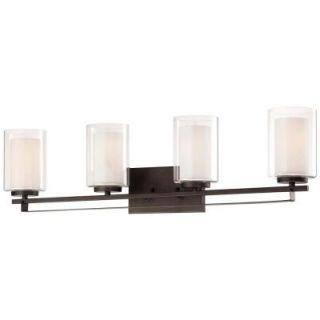 Minka Lavery Parsons Studio 4 Light Smoked Iron Bath Light 6104 172