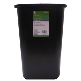 Style Selections 7 Gallon Black Plastic Touchless Trash Can