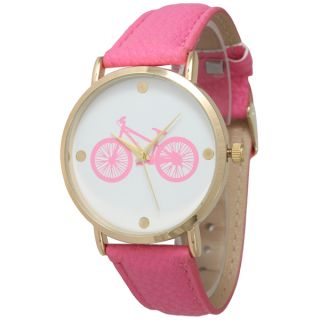 Olivia Pratt Womens In The City Bicycle Leather Watch   17415143
