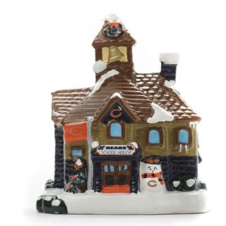 Chicago Bears Holiday Village Schoolhouse
