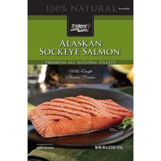 Trident® Alaskan Sockeye Salmon Fillets   40 oz.
