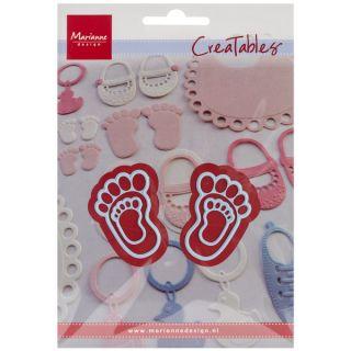 Marianne Design Creatables Dies Feet, 1X1.5 & .5X.875